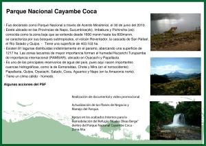 Cayambe - Coca